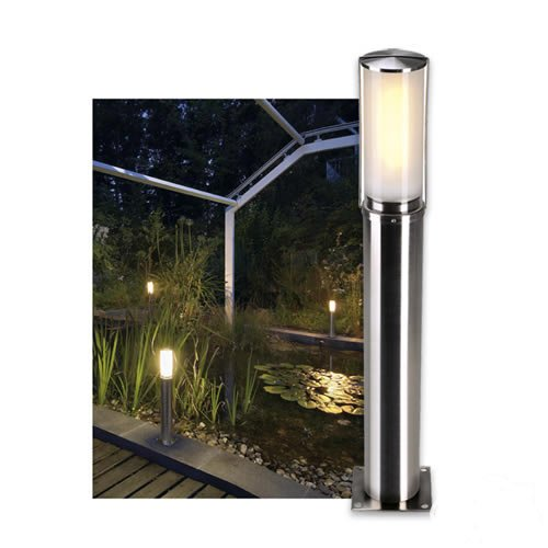 Slv big nails 50 - Luminaria exterior e27 15w acero inoxidable