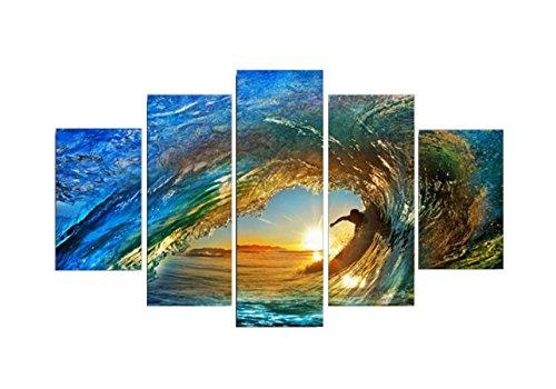 HUQI 5 Cuadros De Vuelo Que Practican Surf Vista Mar