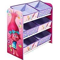 Preisvergleich für Trolls - Regal zur Spielzeugaufbewahrung mit sechs Kisten für Kinder