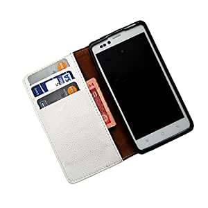 i-KitPit PU Leather Wallet Flip Case For Micromax Ninja A91 (WHITE)