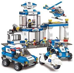 SLUBAN BRICKS, Police Mando SWAT 582 Piezas Juegos de construcción (AJ 1)