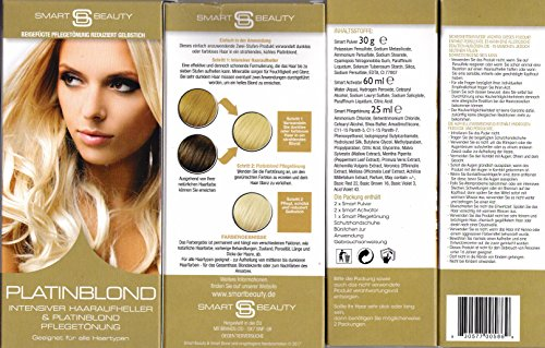 Smart Beauty Platinblond Intensiver Haaraufheller & Plantinblond Pflegetönung 115 ml