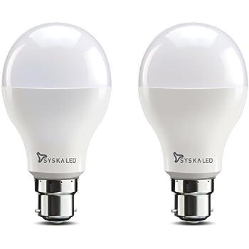 Syska SSK-SRL-18W-2 B22 18-Watt LED Bulb (Pack of 2, Cool Day Light)