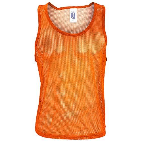 SOLS Herren Anfield Sport-Überzieh-Weste / Trainingsweste Orange