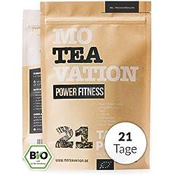 MOTEAVATION - Bio Kräuterteemischung (21 Tage) Oolong & Mate Tee - 100 % biologische Premium-Teemischung: Schwarzer Tee (Typ Oolong), Mate, Brennnesselblätter, Ingwer, Pfefferminzblätter 100g