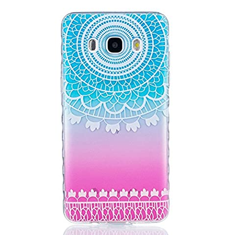 Samsung J5 2016 Case, Galaxy J5 2016 Cover, Sunroyal [Non-Slip] Transparent Perfect Fit Slim TPU Rubber Soft Flexible Silicone Gel Shock Scratch Resist Protective Clear Cute Creative Pattern Case Cover for Samsung Galaxy J5 2016 Mold - Totems