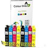 8 XL ColourDirect compatibles cartouches d'encre pour la série Epson Expression Home XP102, XP202, XP212, XP215, XP205, XP225, XP30, XP302, XP305, XP312, XP315, XP322, XP325, XP402, XP412, XP415, XP405 XP405WH XP422 , XP425 Printers - 18XL Imprimante