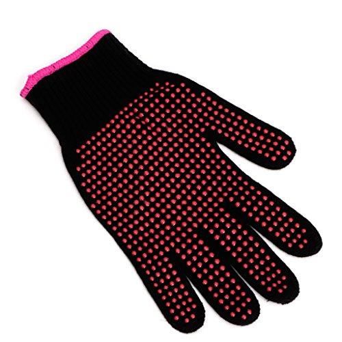 Lergo 1PC Glätteisen lockenstabs Friseur hitzebeständig Finger Handschuhe