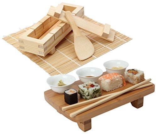 Kit para hacer y servir sushi japonés