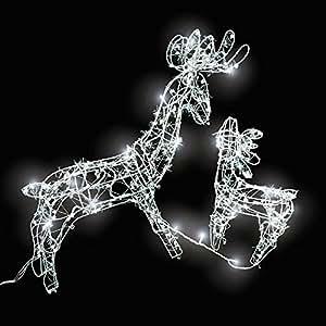 Tectake illuminazione natalizia per esterni esterno - Renna natalizia luminosa per giardino ...
