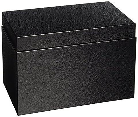 Sandusky Buddy 0558-4 Products Index Card File, Steel, 12.7 cm x 20.3 cm, 12.7 cm x 14.6 cm x 21.6 cm, Black