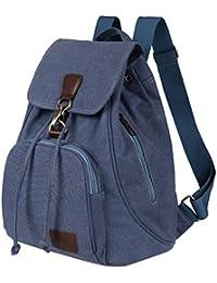 Retro Canvas Backpack Fletion Vintage Designer Rucksack Travel Casual Shoulder Bag Handbag College Daypack Satchel