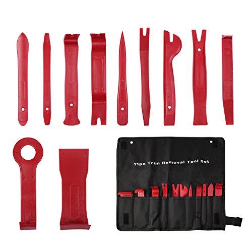 TurnRaise Auto Werkzeuge 11 Stück Universal Automotive Trimmwerkzeug-Set Kit-Einsatz auf Türverkleidungen, Polster, Zierleisten, Leisten