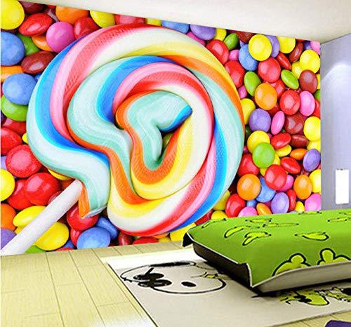 ede Größe Farbe Süßigkeiten Lutscher Tapete Kinderzimmer Schlafzimmer Dekoration Malerei Wandbild Tapete Kinder ()
