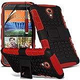 Red - HTC Desire 320 Zweischichtige starke, stoßfeste