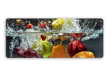 Glasbild mit abgerundeten Ecken - Erfrischendes Obst Panorama ...