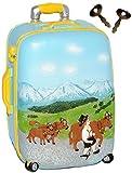 alles-meine.de GmbH 3-D Effekt - Spardose _ Trolley -  Alpen / Bayern - Landschaft  - mit 2 Schl..