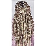 Syntetiskt Passion Twist virkat hår 5-pack (120 g/pack) för-tvinnat Passion Twist hår för-virade vridningar virkad flätning h