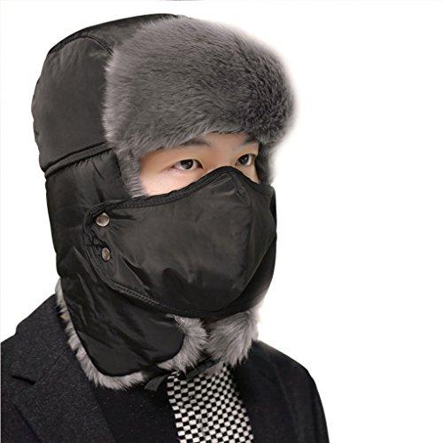 Mens Winter Warm Trooper Hat Ear Flap Hat Russian Style Thicken Windproof
