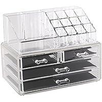 Estilo 100% puro acrilico Cosmetici e Gioielli Display Storage Organizer, due pezzi set scatole