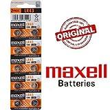 Blister 50x Batterien mit Taste Original Maxell LR43186RW84V12GA AG12