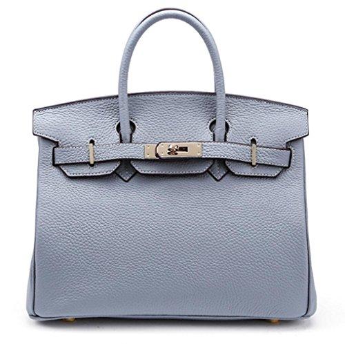 Damen Schultertaschen Leather Platinum Tasche Litchi Diagonale Tasche 5