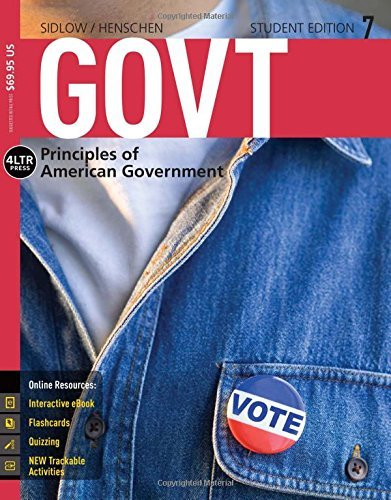 GOVT7 (with CourseMate, 1 term (6 months) Printed Access Card) (New, Engaging Titles from 4LTR Press) by Edward I. Sidlow (2015-01-01)