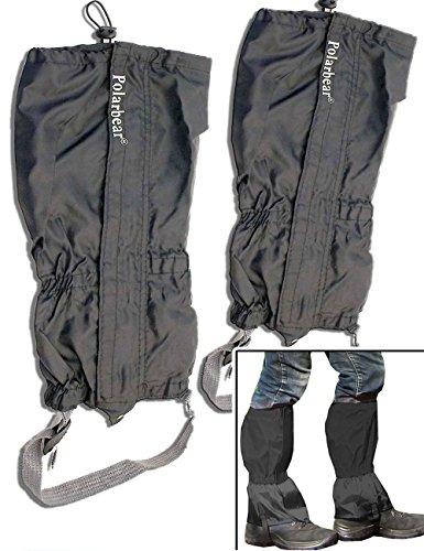 Outdoor Saxx® - Paar Gamaschen   Unigröße wasserdicht strapazierfähig   für Wandern, Ski Fahren, Gestrüpp Stiefel-Schutz wasserabweisend   2er Set -