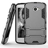 MY_CASE Shockproof Case for LG K5 | Hard Case in Gray |