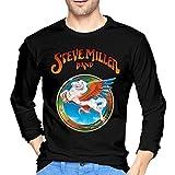 Photo de T-Shirts à Manches Longues, Homme, Hauts, Chemises Casual, T-Shirts et Tops de Sport, Steve Miller Band Men's Long Sleeve Tshirt Black par BYYKK