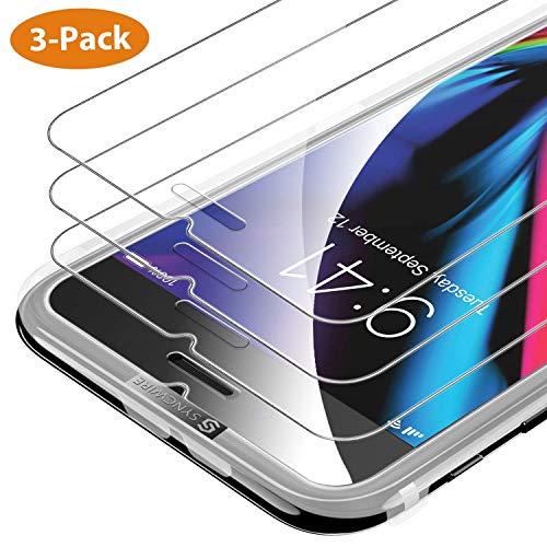 Syncwire [3-Pezzi Pellicola Vetro Temperato iPhone 8/7 / 6s / 6 HD 9H Durezza, Vetro Temprato Protettiva per Apple iPhone 8/7 / 6s / 6[Infrangibile, Senza Bolle, Adattabile alla Custodia]