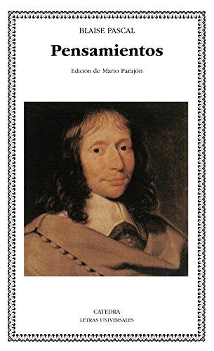Pensamientos (Letras Universales) por Blaise Pascal