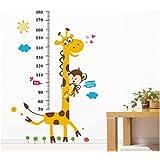 Arco iris de Fox XL! Mono de peluche con forma de árbol Growth Chart, de la jirafa de la altura de la pared de cinta métrica de medidor de tabla de tatuajes de pared pegatinas de pared decorativo infantil con diseño de regalo