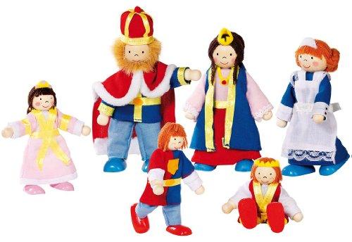 """goki Biegepuppen """"Königsfamilie"""" 6 Puppen"""