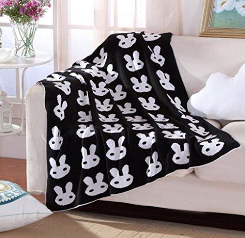 Preisvergleich Produktbild BLUESTAR Baumwolle Soft Baby Stricken Decke, 90* 110cm Personalisierte Muster Cuddle Receiving Swaddle Decke für Baby Jungen Mädchen