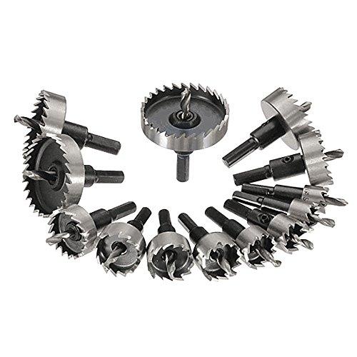 Nuzamas set di 13seghe a tazza, anima in metallo per trapano 16–53mm in acciaio al tungsteno taglierina utensile per piastra di ferro in acciaio INOX rame legno