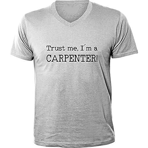 Mister Merchandise Uomo T-Shirt Trust me, I´m a Carpenter! Schreiner Men Maglietta Camicia V-Neck
