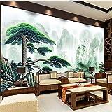 HONGYAUNZHANG Lush Forest Pflanzen Benutzerdefinierte Fototapete 3D Stereoskopische Wandbild Wohnzimmer Schlafzimmer Sofa Hintergrund Wandbilder,290Cm (H) X 370Cm (W)