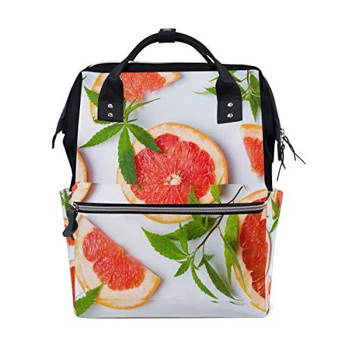 Grapefruit-diät (Grapefruit Sommer Lebensmittel Große Kapazität Wickeltaschen Mama Rucksack Multi Funktionen Windel Pflegetasche Tote Handtasche Für Kinder Babypflege Reise Täglichen Frauen)