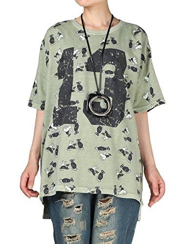 Vogstyle Damen T-Shirt Grün
