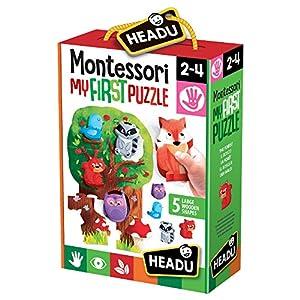 Headu it20133.-.mi Primer Puzzle-Juego Infantil Educativo Montessori-Conoce el Bosque, Multicolor