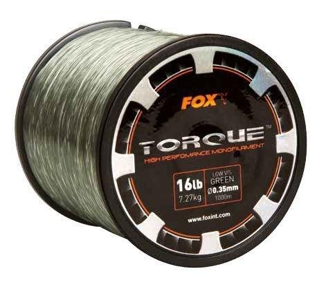 Fox Torque Line 1000m Karpfenschnur, monofile Schnur zum Karpfenangeln, Angelschnur für Karpfenrolle, Durchmesser/Tragkraft:0.33mm / 5.91kg Tragkraft