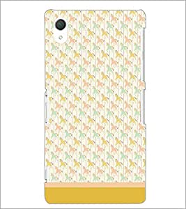 PrintDhaba Horse Pattern D-1502 Back Case Cover for SONY XPERIA Z3 (Multi-Coloured)