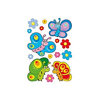 Alenio Wall Sticker–Butterflies & Flowers–sheet size: 33x23cm