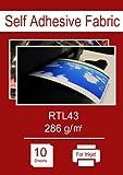 A4X 10sheets-Tissu adhésif autocollant pour imprimantes jet d'encre, amovible et repositionnable