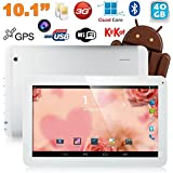 Tablette tactile 10 pouces 3G Double SIM Quad Core WiFi GPS 48Go Blanc