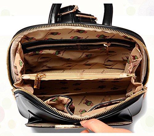 Keshi Pu Cool Schulrucksäcke/Rucksack Damen/Mädchen Vintage Schule Rucksäcke mit Moderner Streifen für Teens Jungen Studenten Gold