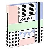 """Hama Einsteckalbum für Sofortbilder """"Cool Story"""" (Mini Album für 28 Fotos bis Max. 8,9x10,8cm, Einsteck-Taschen, Albenformat 11,7x12,7cm) Einsteck-Fotoalbum, Fotobuch"""