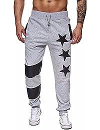 VonVonCo Hombre Pantalones Chandal Anchos Hombres Pantalones Harem De  CháNdal Casual Jogger Sportwear Holgados CóModos a5ad18a2ece