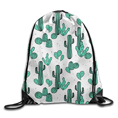 sexy world Cactus Desert Water Life Camel Drawstring Storage Bag Drawstring Backpack for Men & Women School Travel Backpack